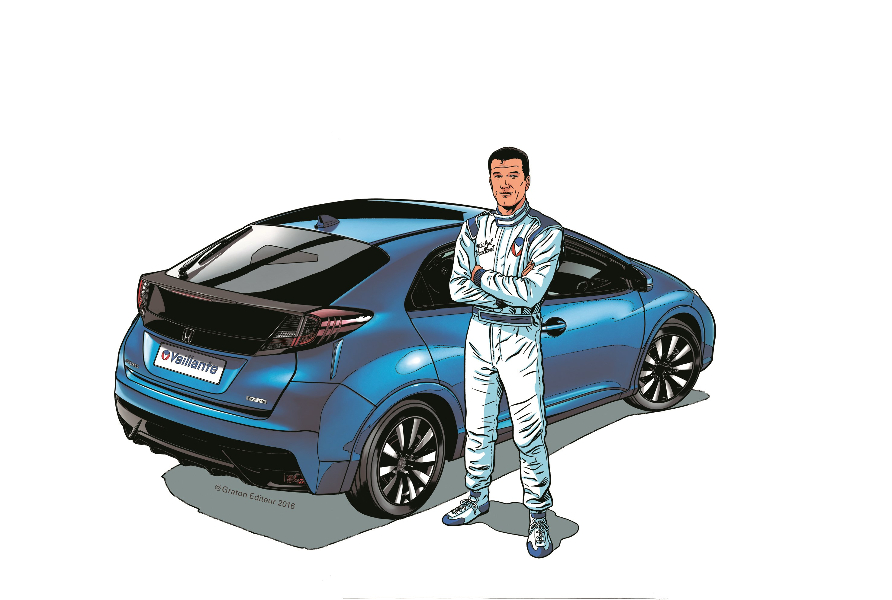 Honda Civic Vaillante - 2016 - rear - drawing