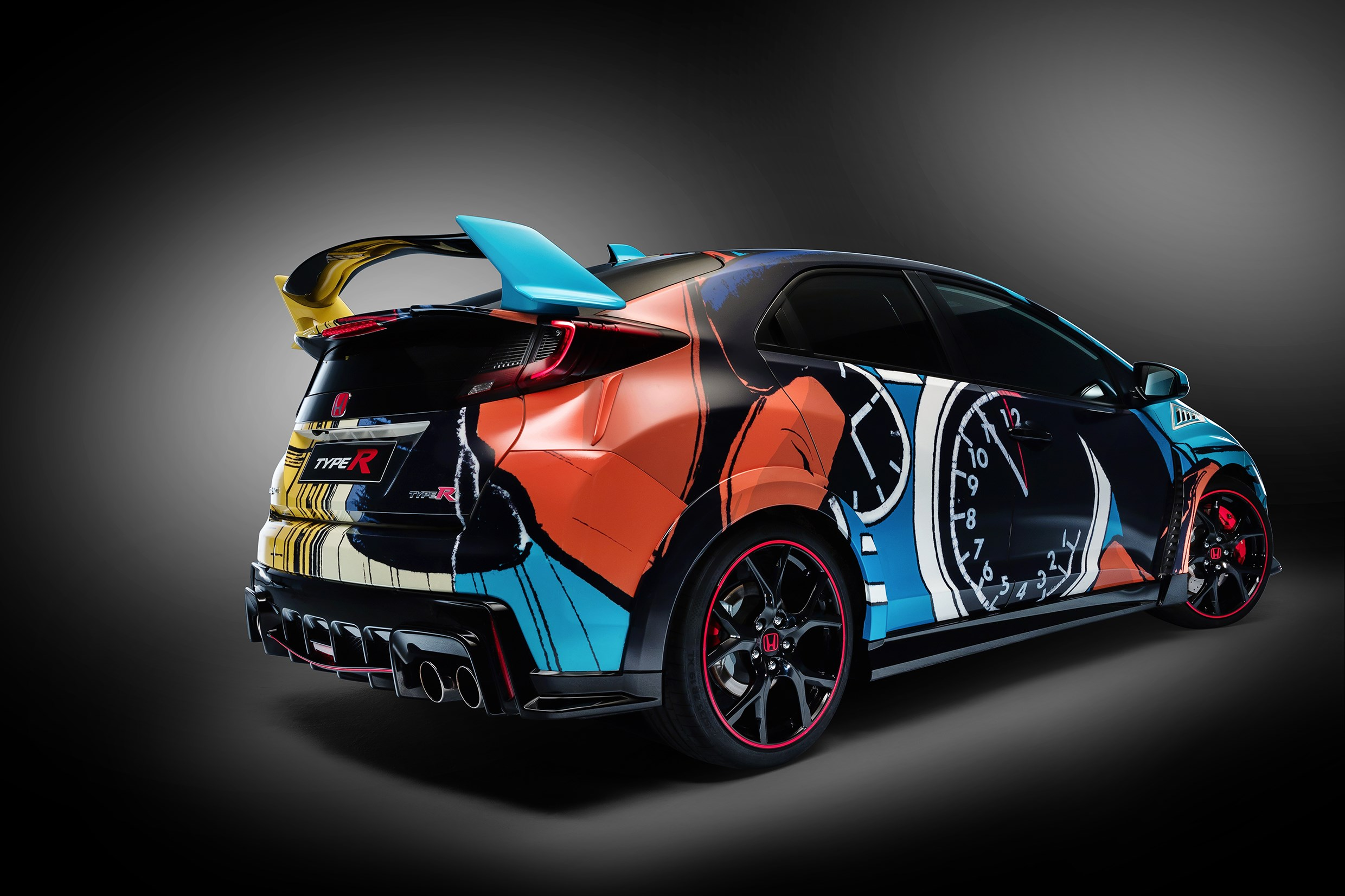 Honda Civic WTCC Art Car 2016 - profil arrière / rear side-face