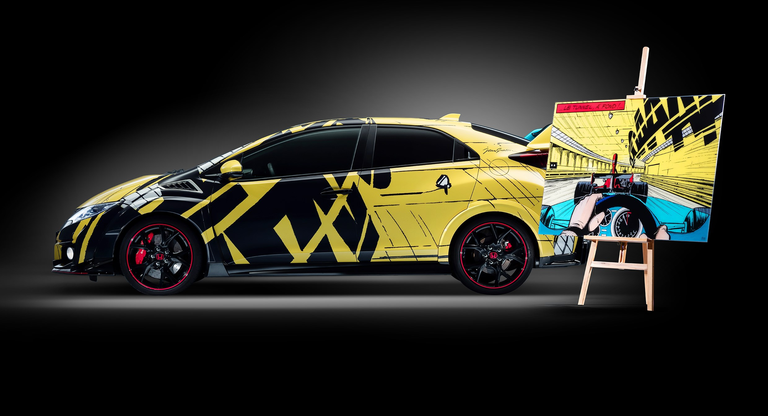 Honda Civic WTCC Art Car 2016 - side left - Michel Vaillant À Fond !