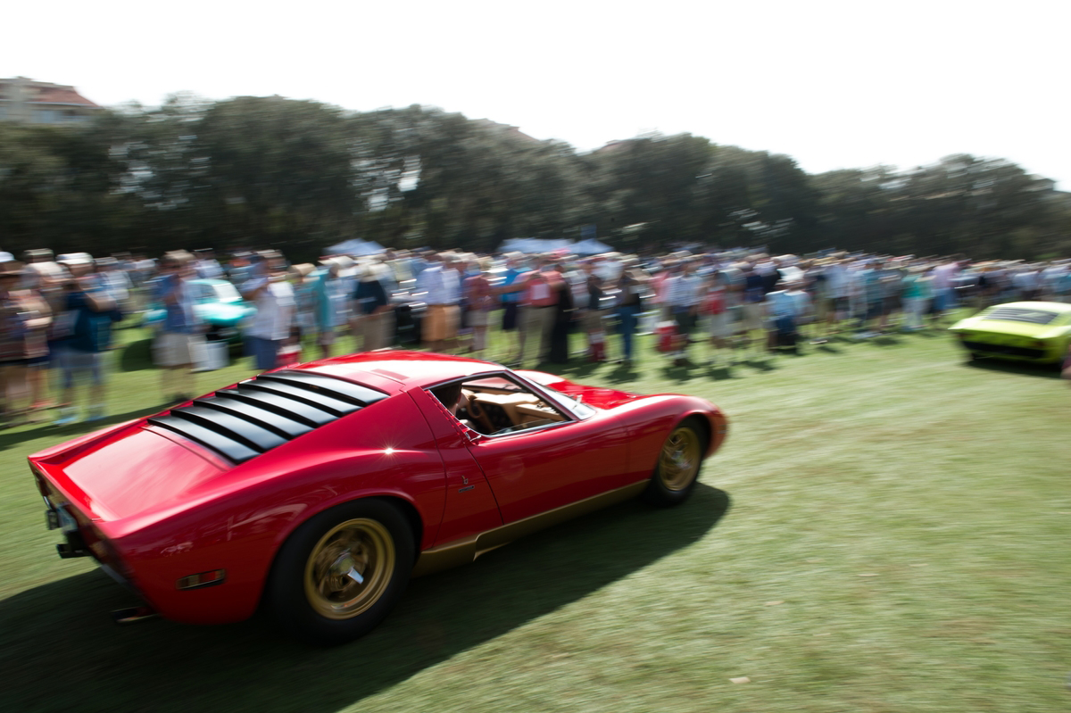 A Red Miura Parades at the Concours D'elegance - 2016 - photo Lamborghini