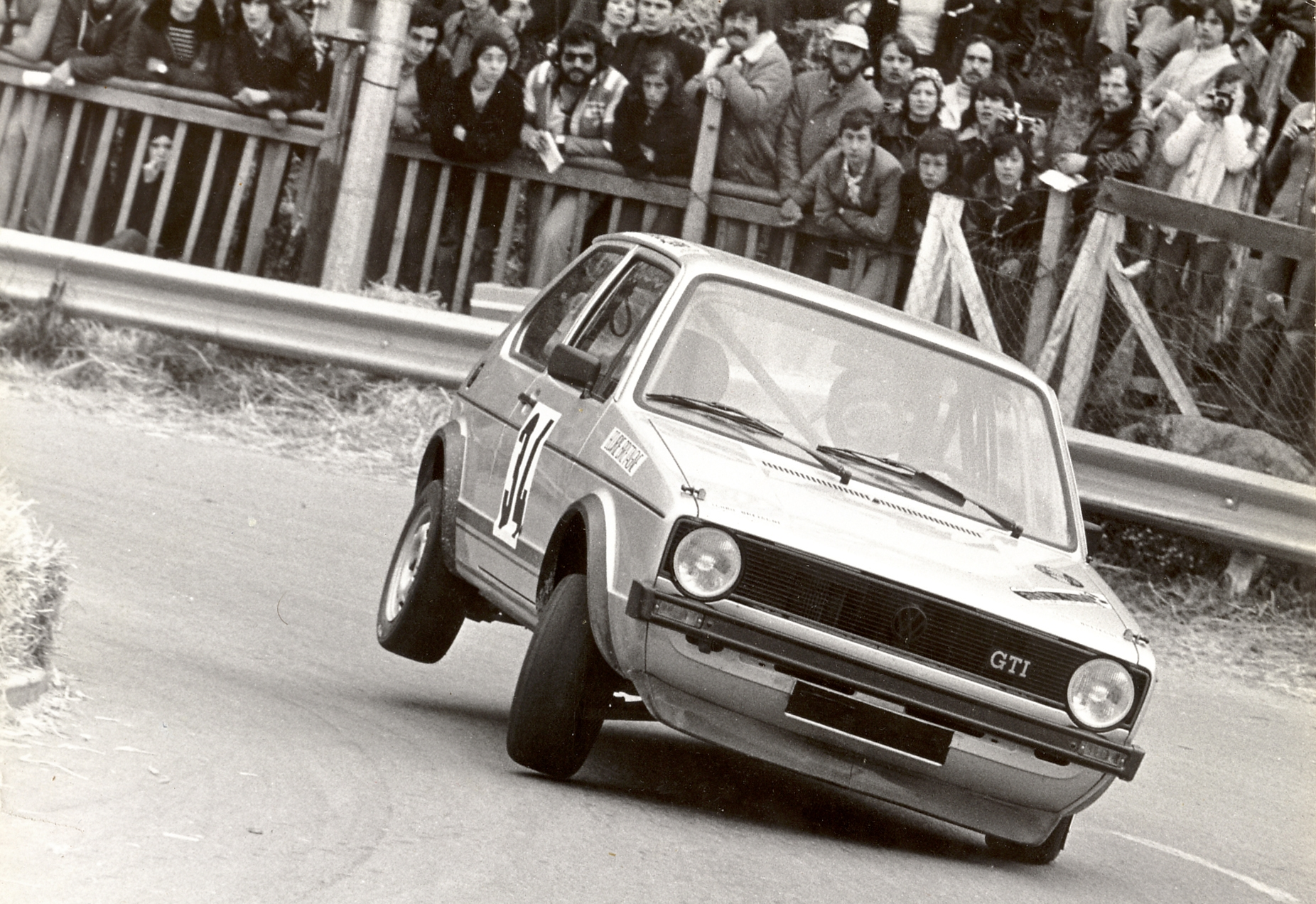 Thierry Le Bras - VW Golf GTI - 1977 - Saint-Germain-sur-Ille - Photo Actualité
