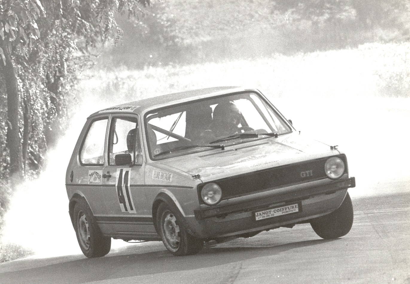 Thierry Le Bras - VW Golf GTI - 1977 - Saumur - Photo Actualité