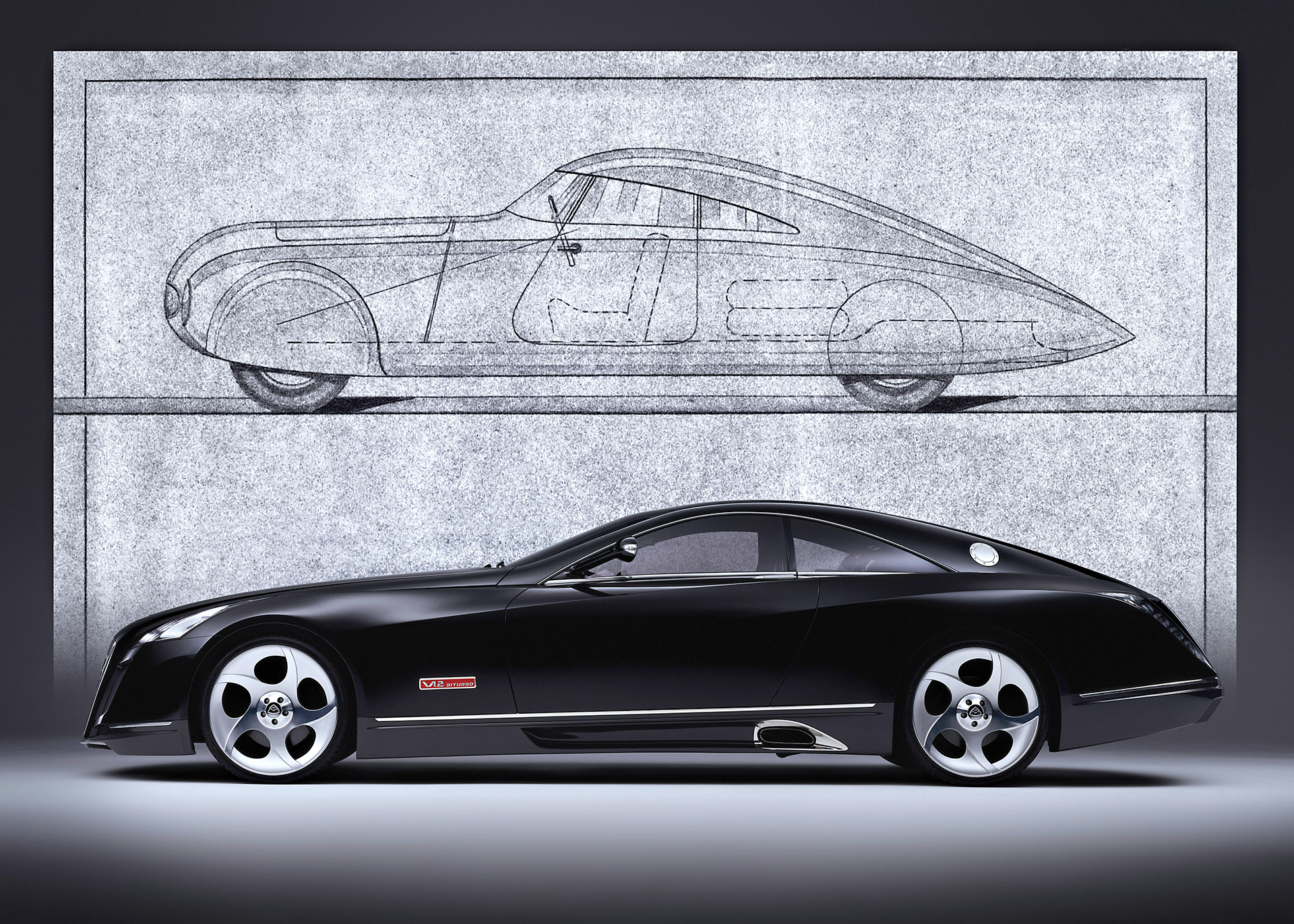 Maybach Exelero - side-face / profil