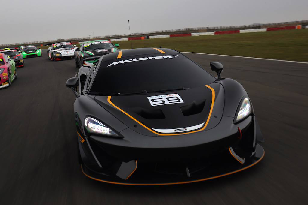 McLaren 570S GT4 - front / avant - 2016 - on track - Photo via British GT Championship
