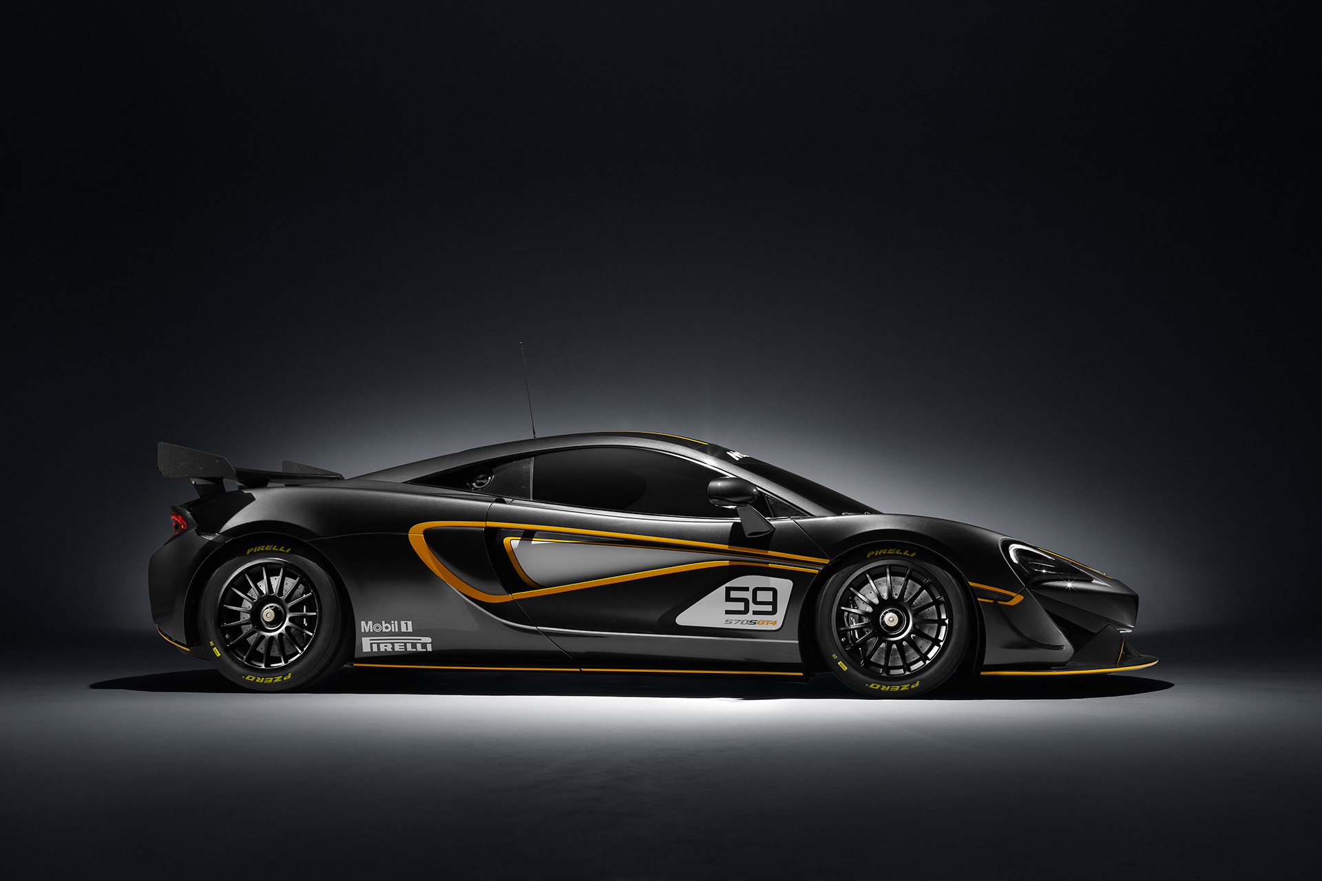 McLaren 570S GT4 - side-face / profil - 2016