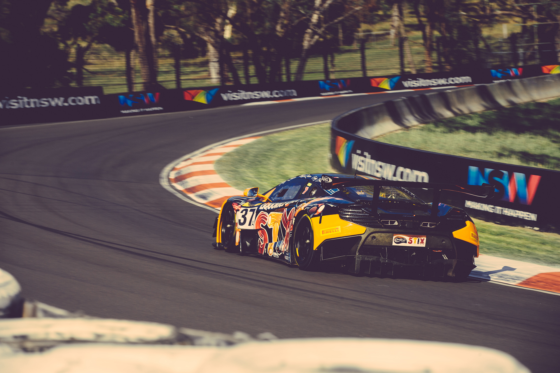 McLaren GT3 - rear - on track - Photo - Bathurst 12hr 2016