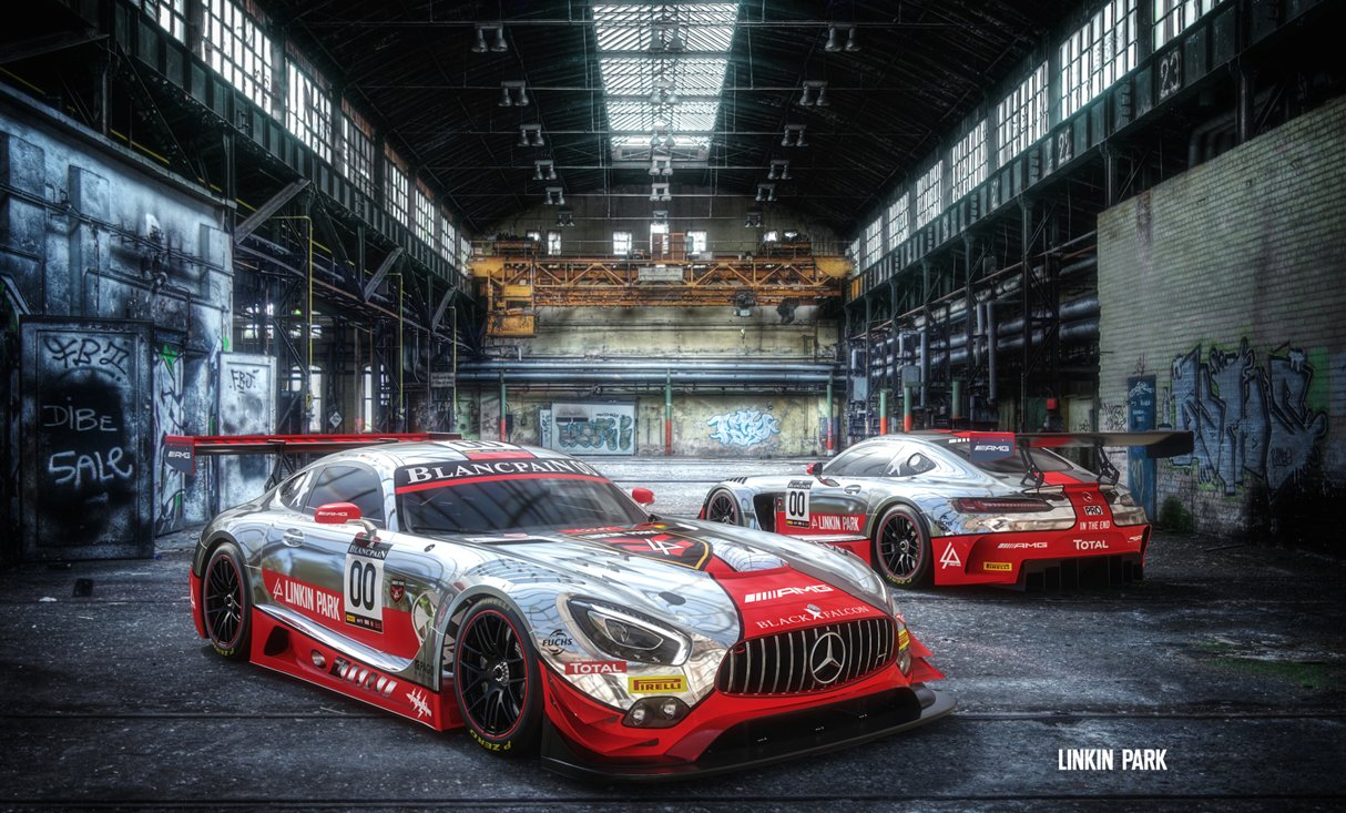 Mercedes AMG GT3 - design by Linkin Park - 2016