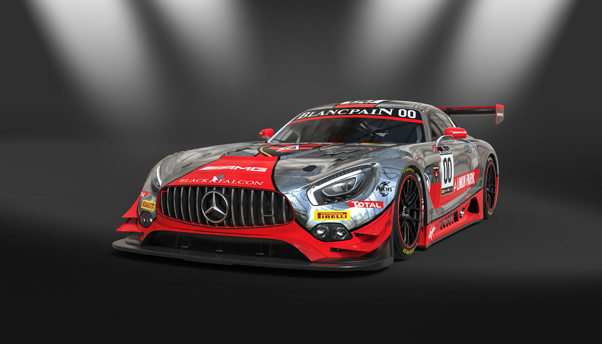 Mercedes AMG GT3 - design by Linkin Park - 2016 - front