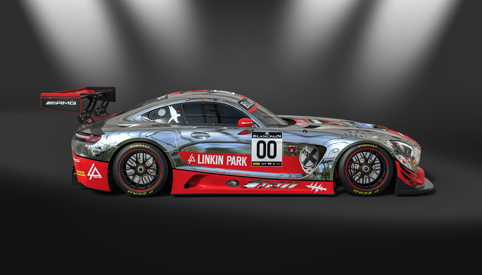 Mercedes AMG GT3 - design by Linkin Park - 2016 - side-face