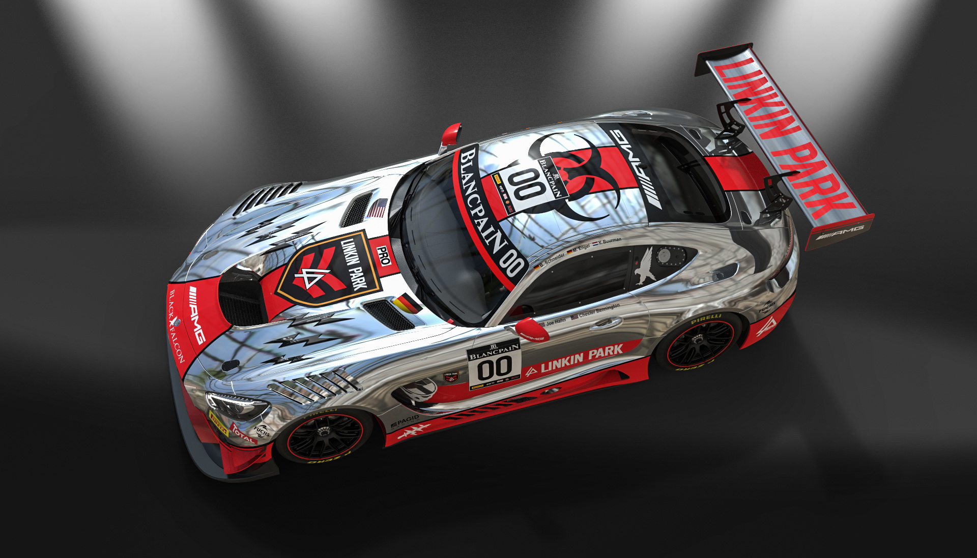 Mercedes AMG GT3 - design by Linkin Park - 2016 - top front