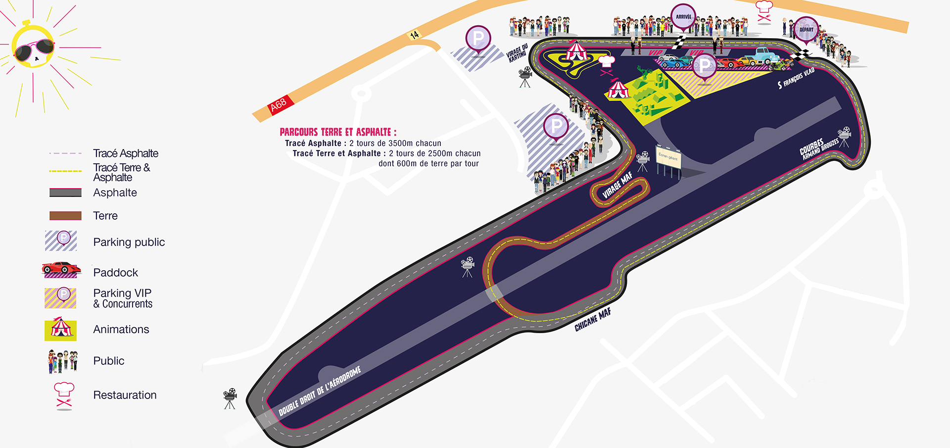 MOTORSPORT FESTIVAL - 2016 - map track - Albi - FRance