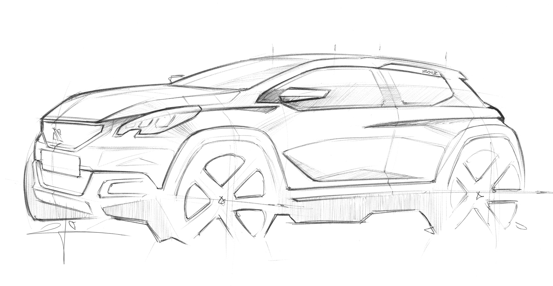 Peugeot 2008 - 2016 - dessin / drawing
