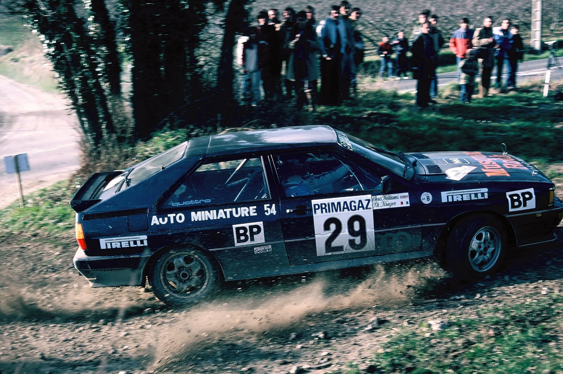 Philippe Kruger - Audi Quattro groupe B - 1982 - Rallye de Touraine - photo Thierry Le Bras