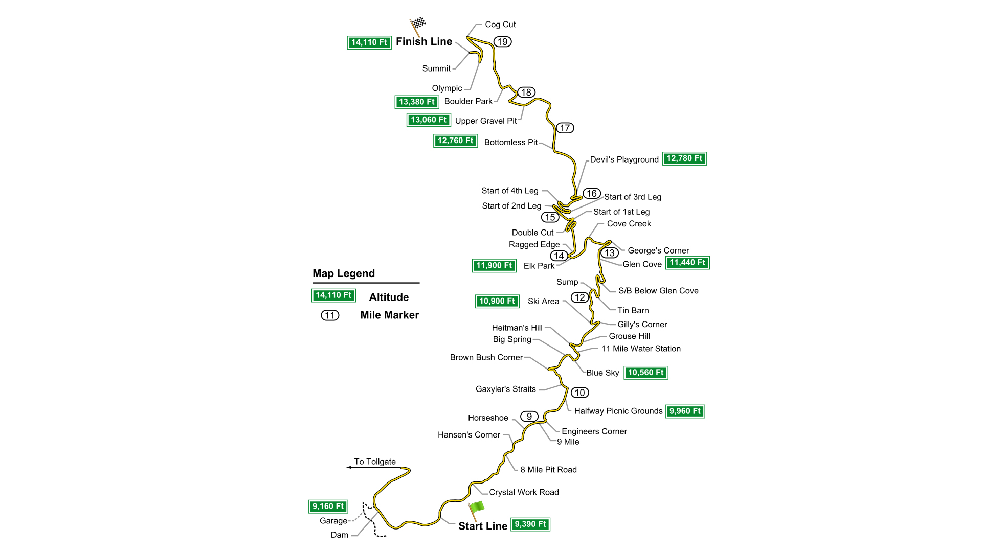 Pikes Peak International Hill Climb - map