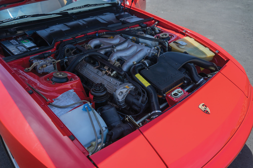 Porsche 944 Turbo - under the hood - photo via Silodrome