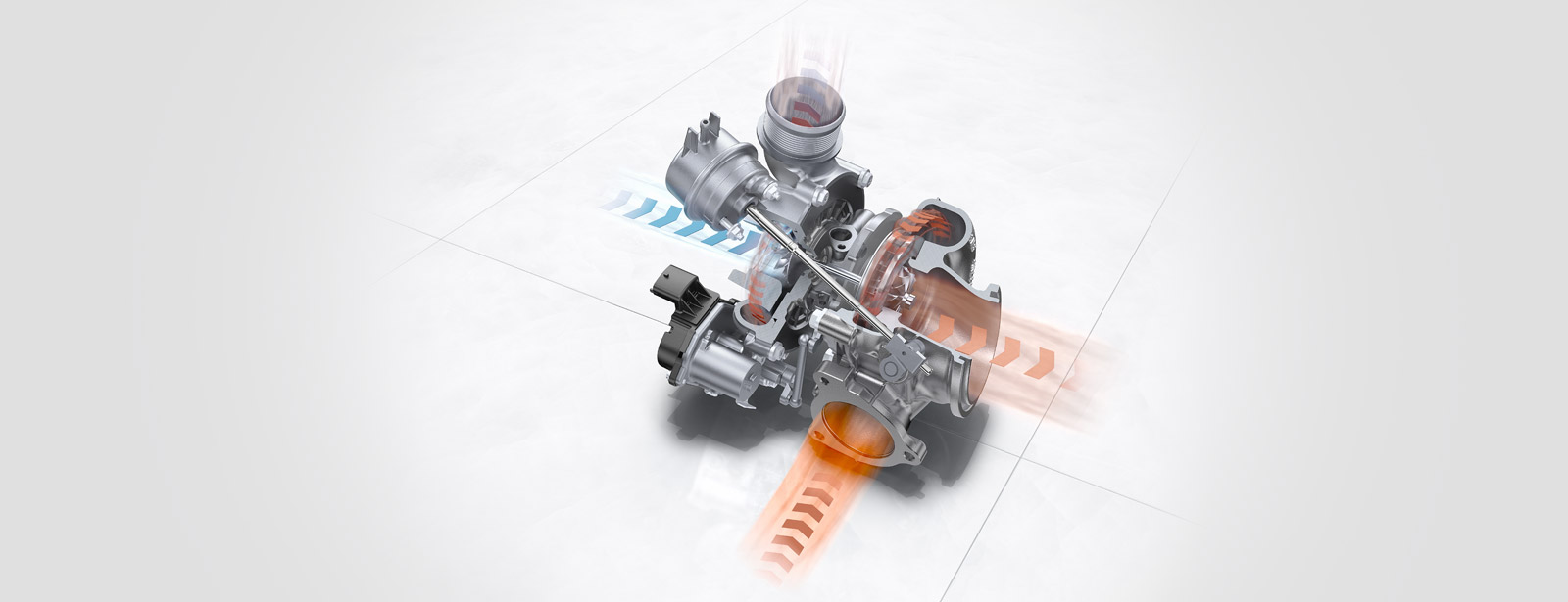 Porsche engine 718 - flat-4 - Variable turbine geometry