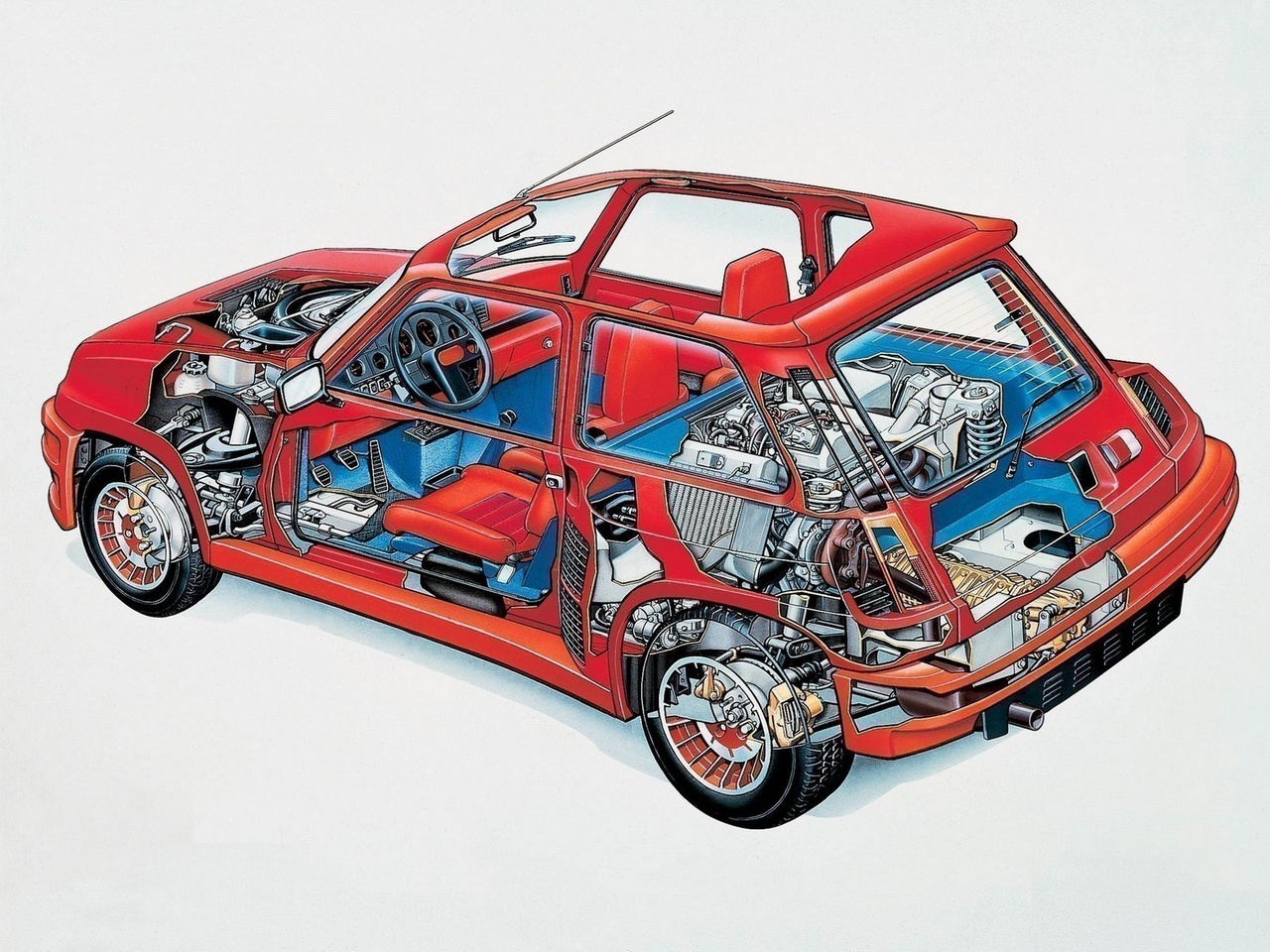 Renault 5 Turbo - moteur / engine