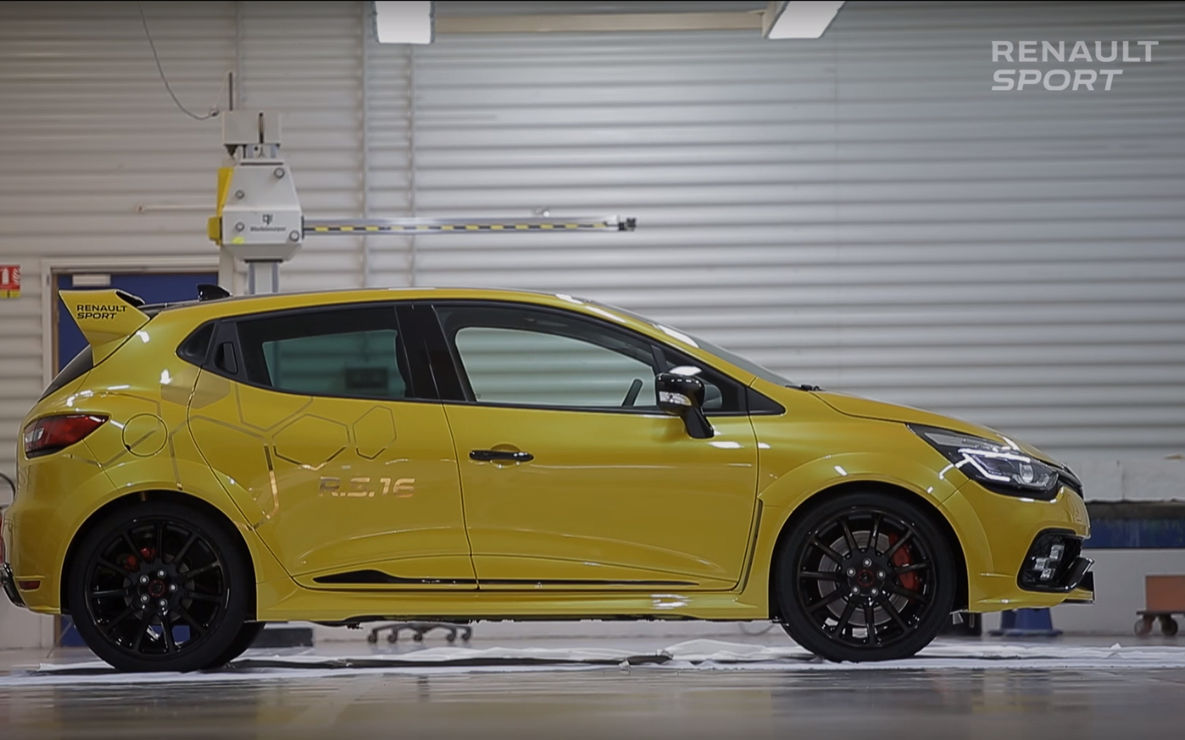 Renault Clio R.S.16 - garage - side-face / profil - zoom
