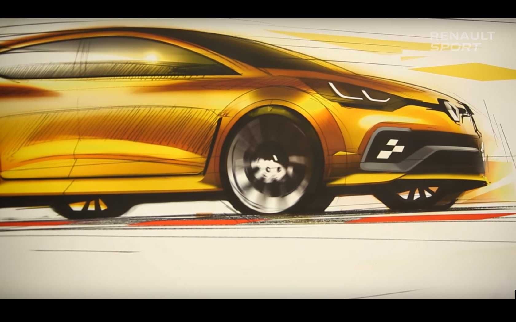 Renault Clio R.S.16 - side-face sketch design by Franck Le Gall