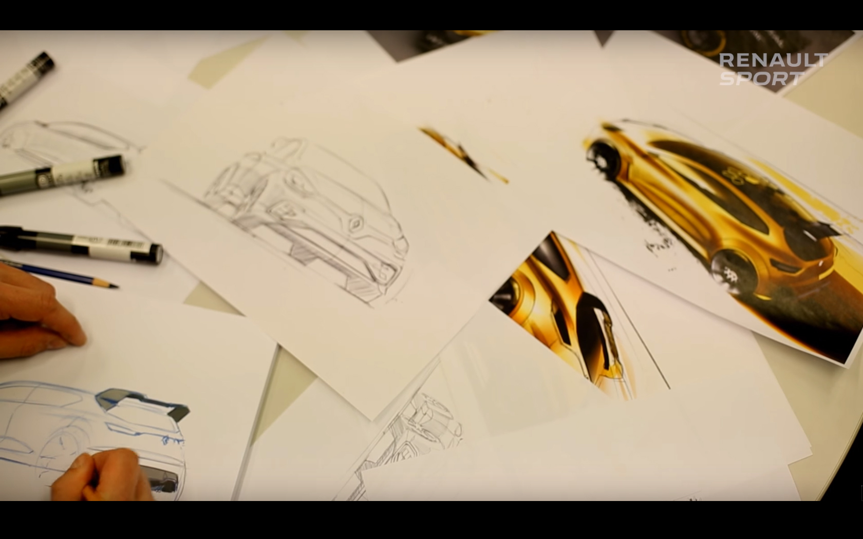 Renault Clio R.S.16 - sketch design by Franck Le Gall