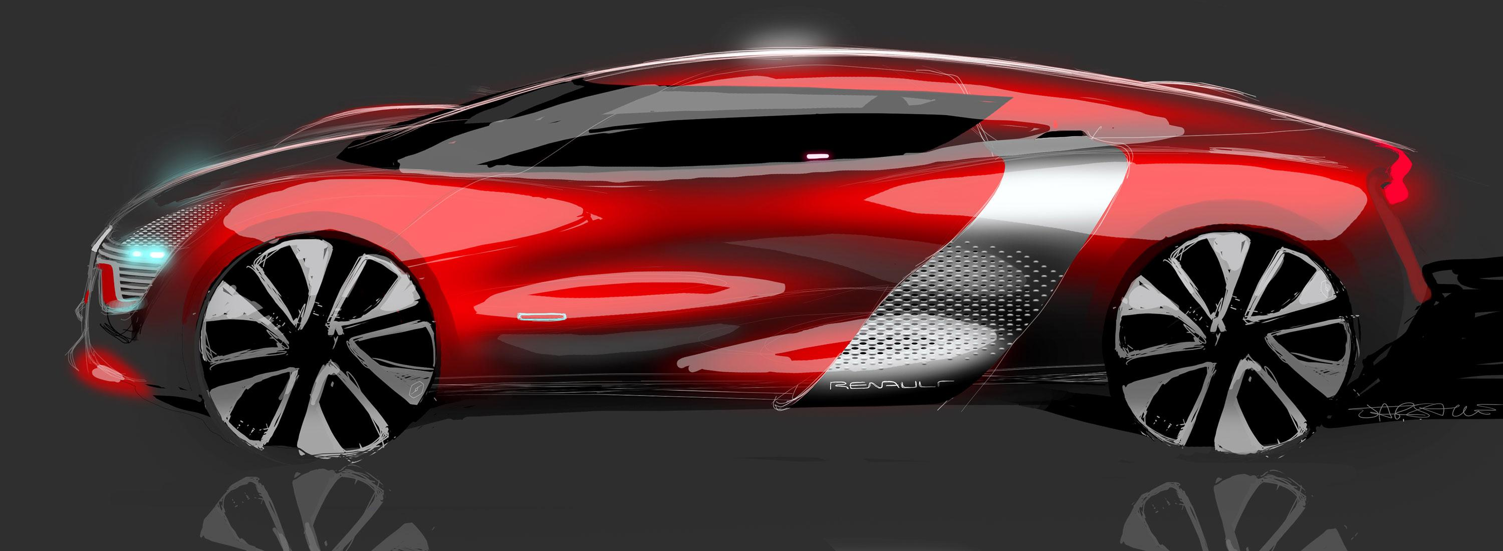 Renault Dezir - 2010 - sketch side design