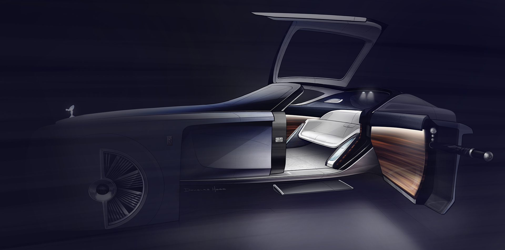 Rolls royce vision next 100 for Interieur rolls royce