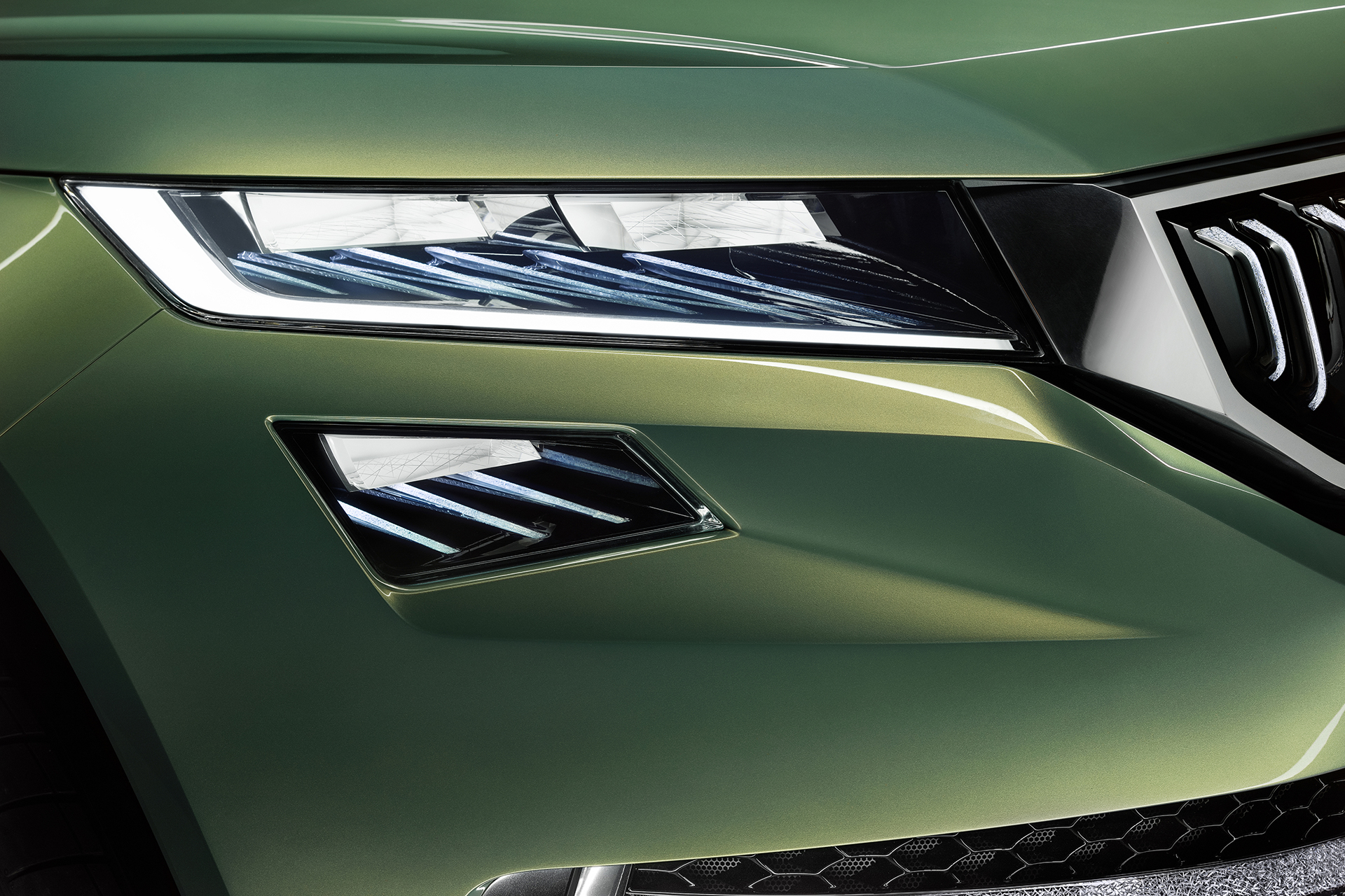 Skoda VisionS Concept - 2016 - front light / optique avant