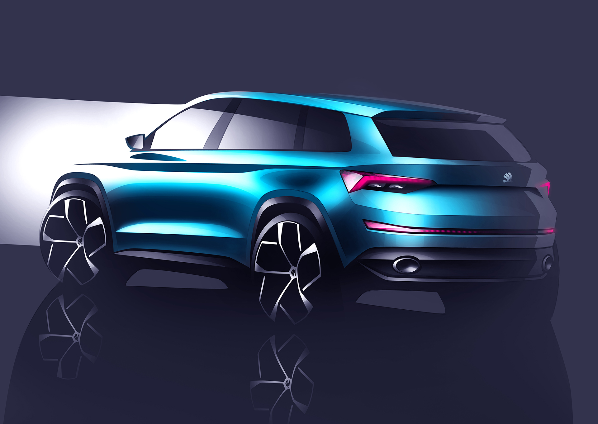 Skoda VisionS Concept - 2016 - rear sketch design