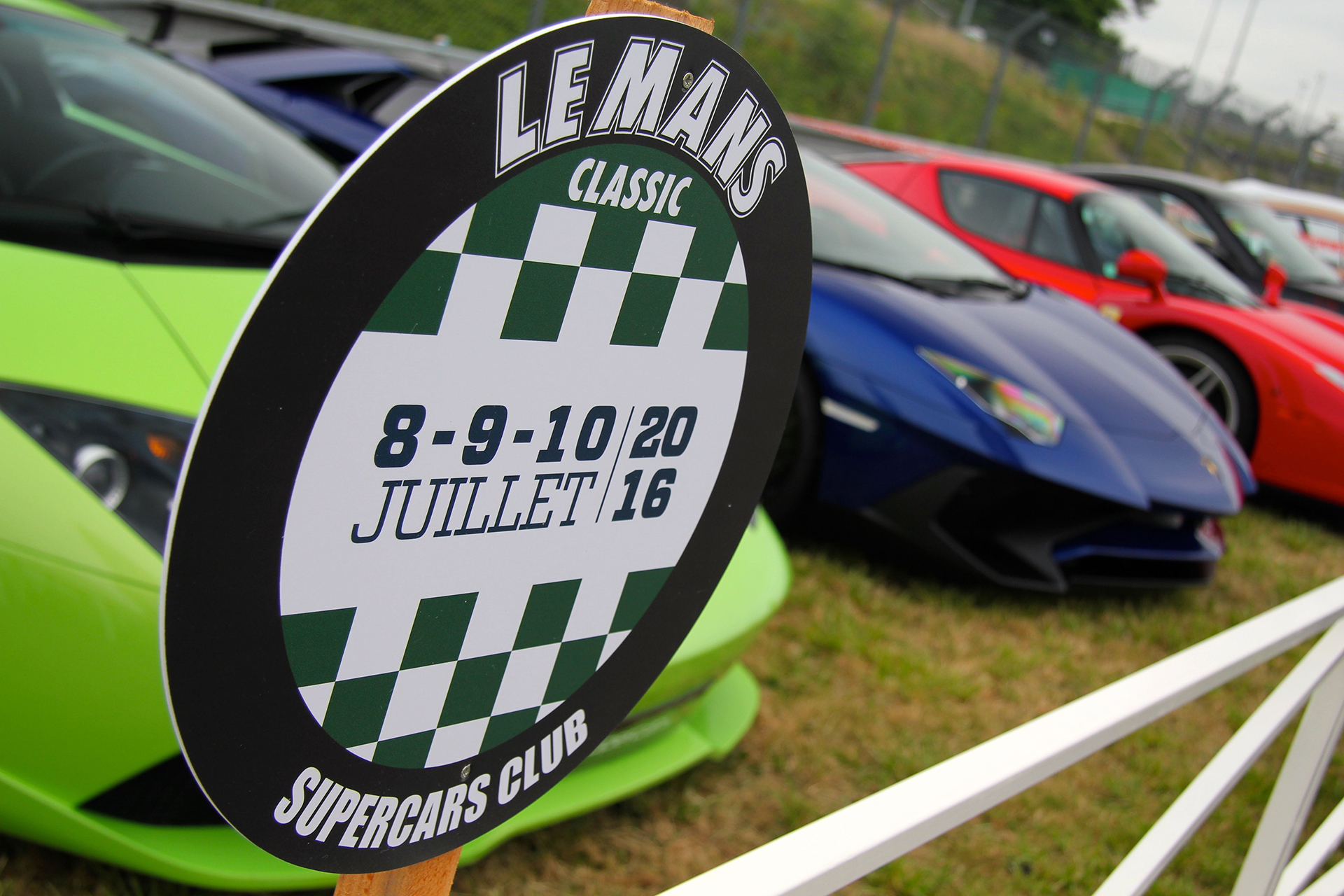Panneau Supercars Club - Le Mans Classic 2016 - photo Ludo Ferrari