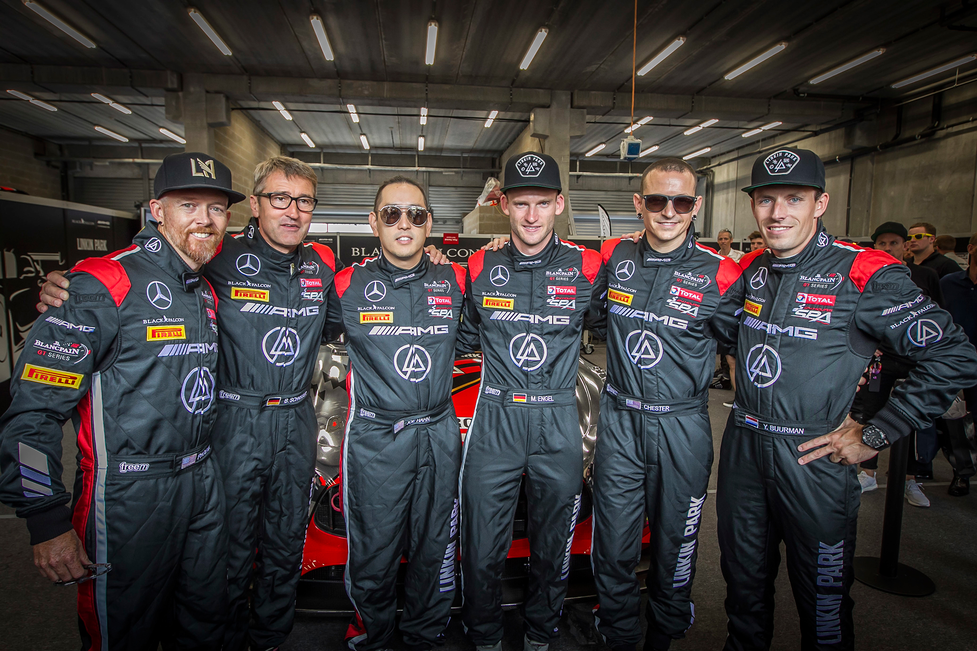 Team Linkin Park - AMG Team Black Falcon - 24 hours race Spa 2016 - Photo Daimler AG