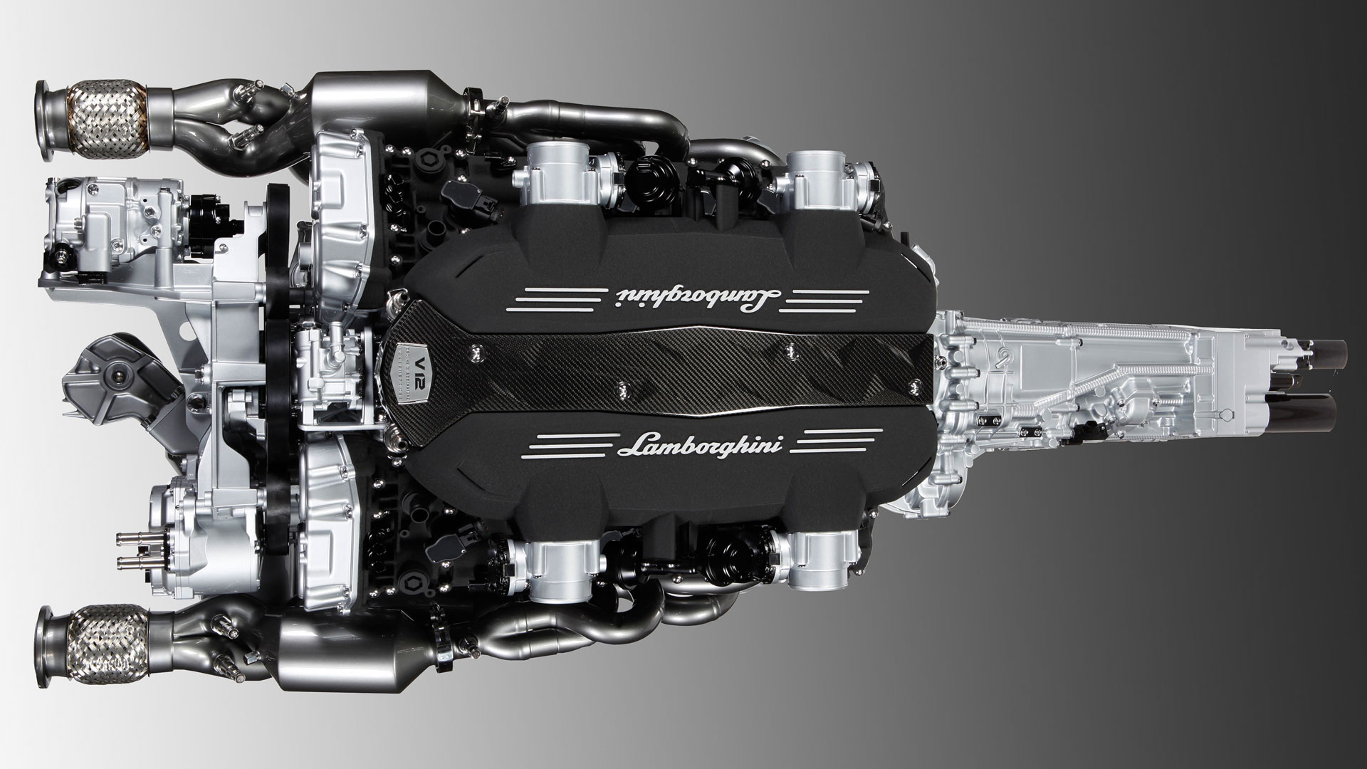 LP700-4 powertrain - engine / moteur