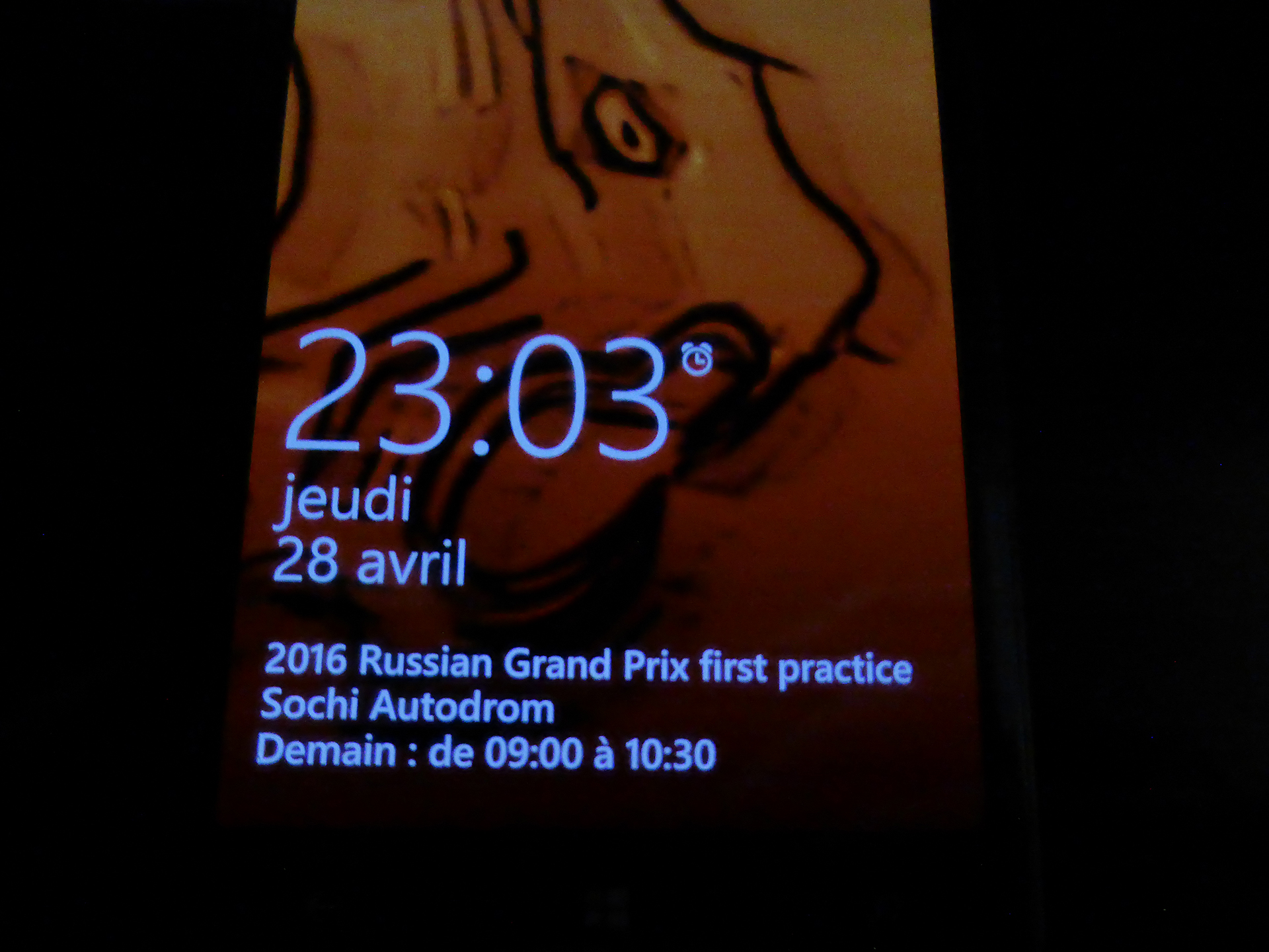 My WinPhone - calendrier F1 - artwork Tiger by ELJ